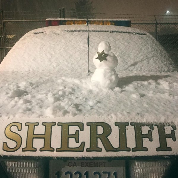 Deputies at the McKinleyville substation got in the spirit. - HCSO