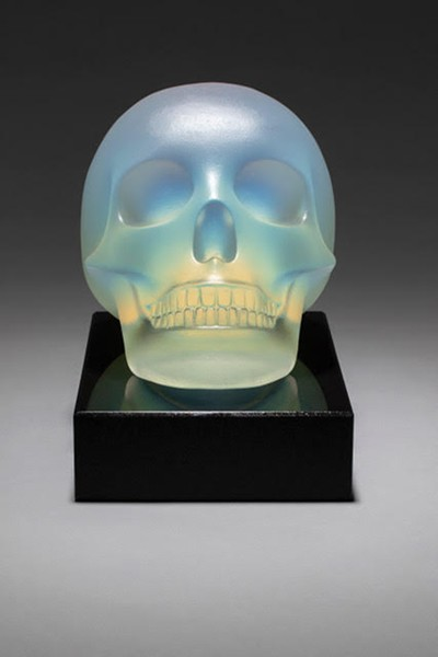 """George Bucquet's """"Skull,"""" cast glass,       6.5 inches by 9 inches by 8.5 inches, 2019. - COURTESY OF THE ARTIST"""