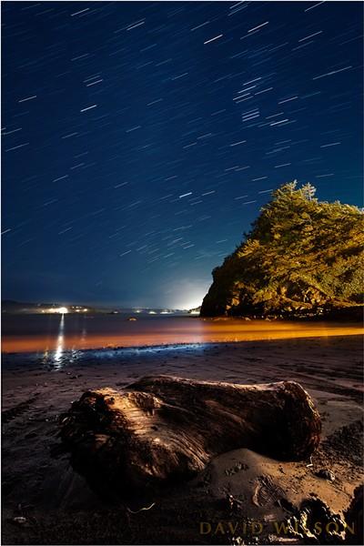 North Coast Night Lights Reflections