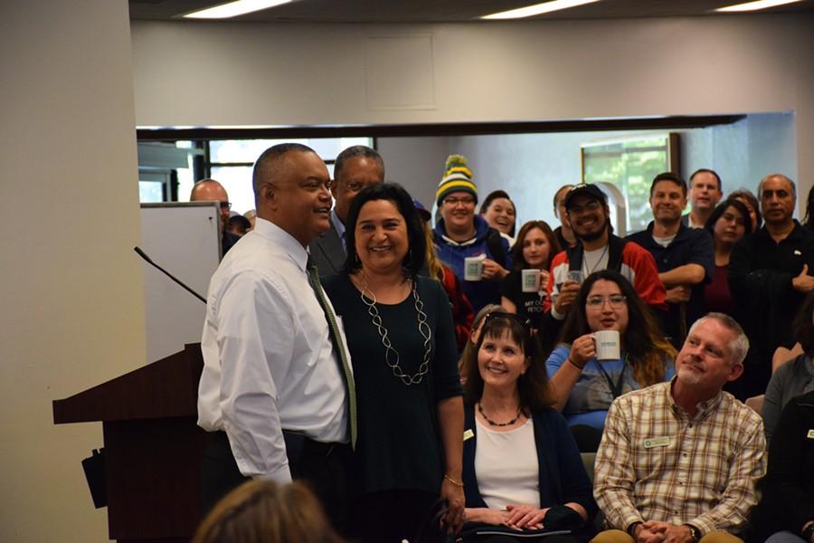 New President, Tom Jackson Jr. and his wife Mona Jackson. - IRIDIAN CASAREZ