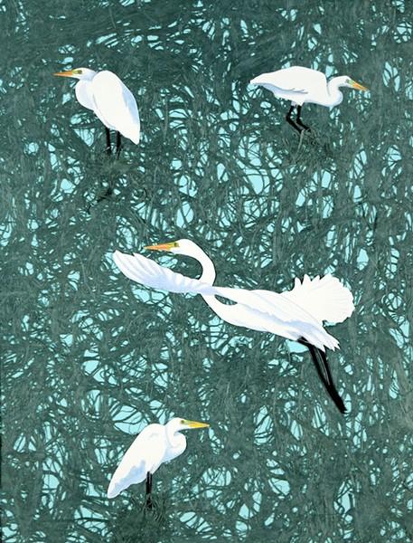 Patricia Sundgren Smith's print at Trinidad Art Gallery.
