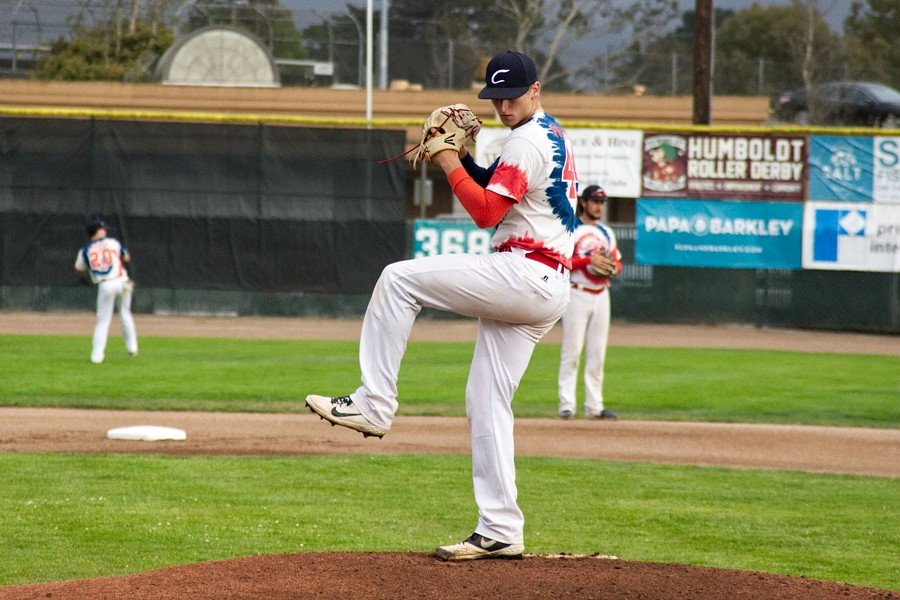 Kyle Pruhsmeier sets to pitch during Saturday's game. - MATT FILAR