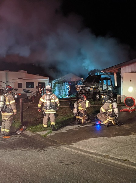 A house fire left one person in critical condition. - HUMBOLDT BAY FIRE