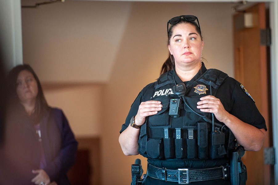 Fortuna school resource officer Lindsey Frank attended the conference where Fortuna Police Chief noted that she had been building trust with the students at Fortuna High and other schools in the Eel River Valley. - MARK MCKENNA
