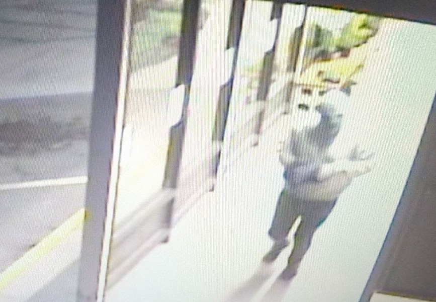 Security footage of the suspect - SUBMITTED
