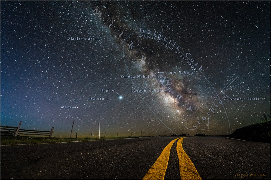 Each year at this time, the stars will be exactly as you see them here. Only the planets will be in new positions in the sky. Photographed at 4:55 a.m. on April 24, 2020 Humboldt County, California. - PHOTO BY DAVID WILSON