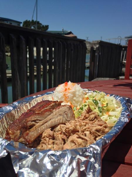 Sunshine, ribs and pulled pork. - JENNIFER FUMIKO CAHILL