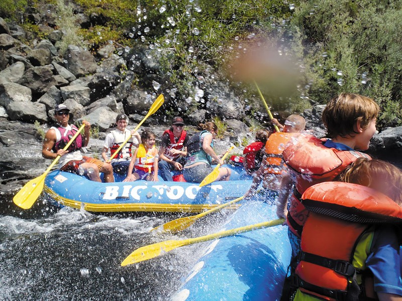 Rafting the Trinity. - BRIANNA CARREIRA, COURTESY OF BIGFOOT RAFTING.
