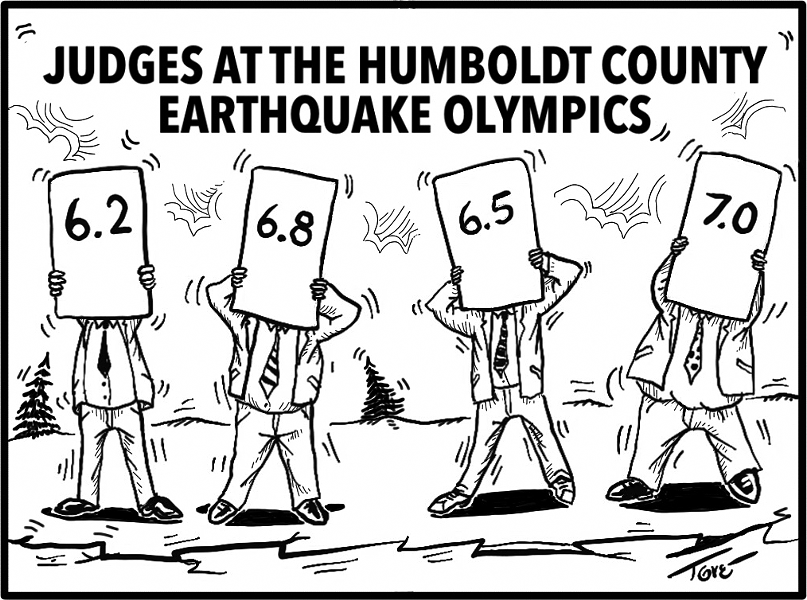 Judges at the Humboldt County Earthquake Olympics - TERRY TORGERSON