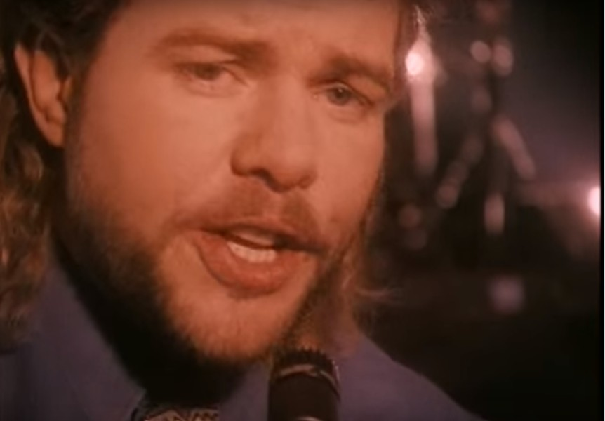 1993 Toby Keith, with mullet. - YOUTUBE