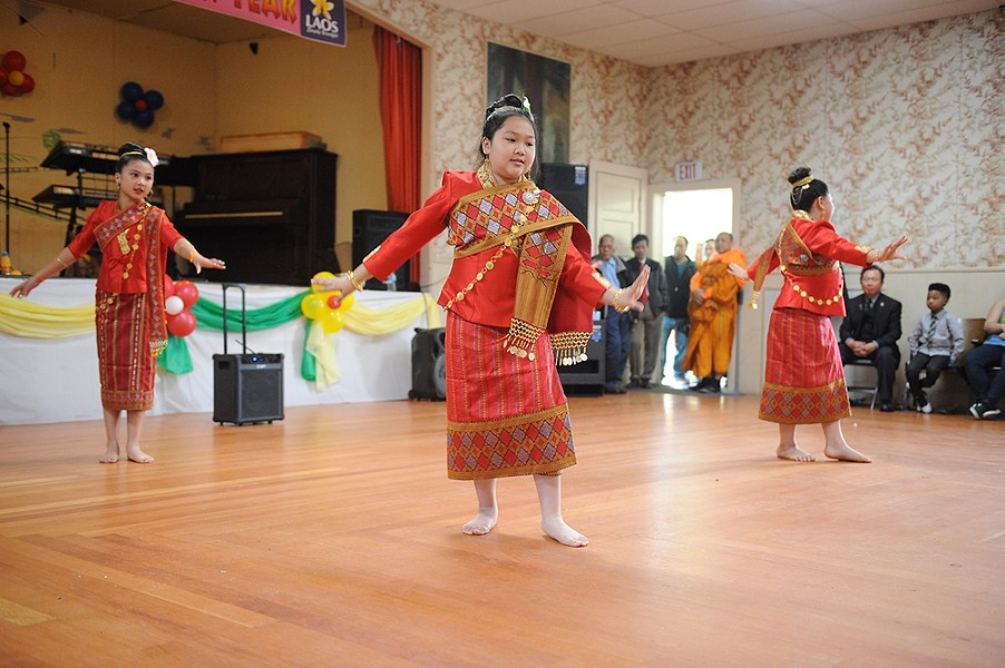 Members of the Humboldt County Lao Dancers perform traditional dance. - PHOTO BY MARK MCKENNA