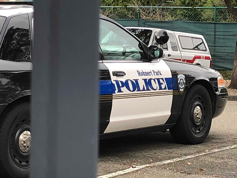 A Rohnert Park police squad car. - SUKEY LEWIS/KQED NEWS