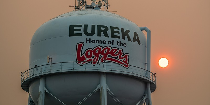 Smoky skies in Eureka today.