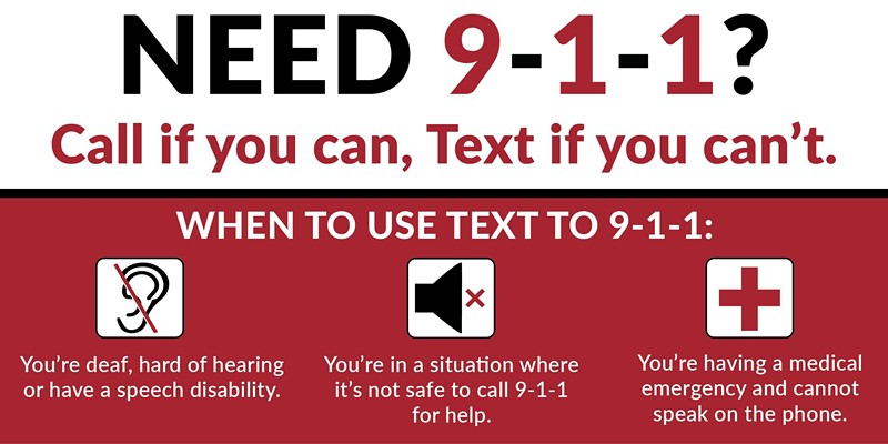Texting 9-1-1 is Now Available in Humboldt County