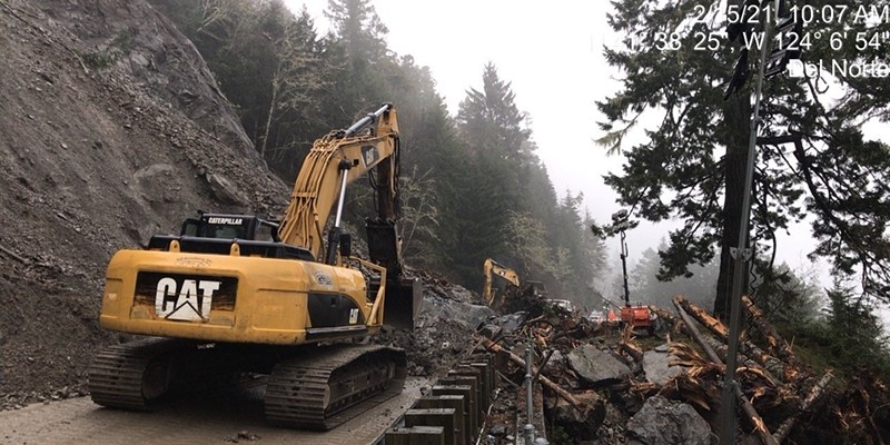 Debris removal continues after another slide hit Sunday night.