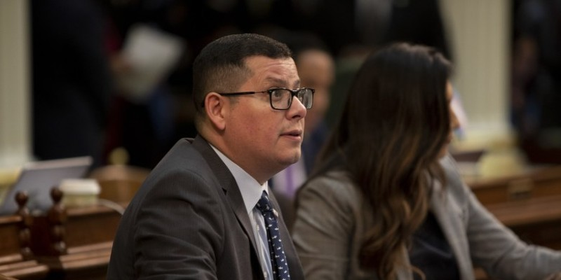 Assemblyman Rudy Salas on the floor on September 12, 2019.
