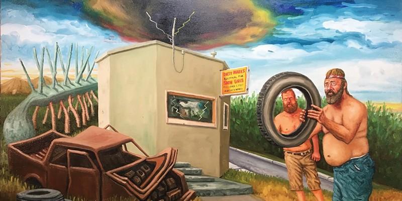 "Jesse Wiedel's ""I am the Wheel"" at Studio 424."