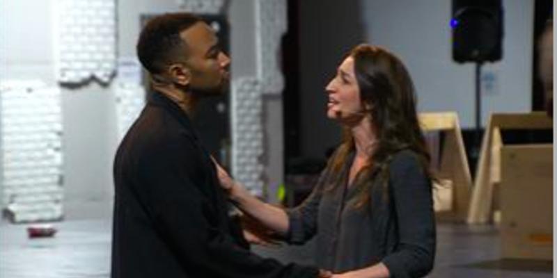John Legend and Sara Bareilles in tonight's live TV musical.
