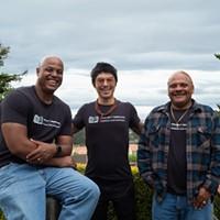 'Beacons of Hope' Eric Clark, left, Tony Wallin, center, Mark Taylor, right. Photo by Dave Woody
