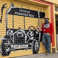 "Mural Makeover ""People Powered"" by Robert ""Robot"" Adams. Photo by Alexander Woodard"