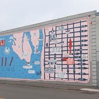 "Mural Makeover ""Queen City of Salt + Fog"" by Jenna Catsos Photo by Alexander Woodard"