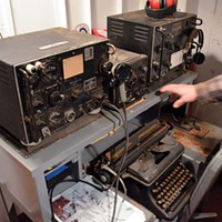 The 1091 The radio room is almost completely restored, and features functional Morse Code transponders and other equipment. Grant Scott-Goforth