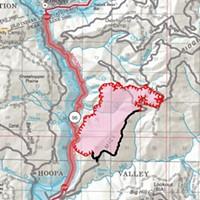 Mill Creek Fire map.