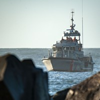 The Coast Guard was at the scene of today's search.