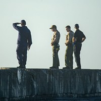 The search for a missing HSU student at the North Jetty on Monday.