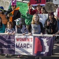 January – The second-annual Women's March in Eureka again drew large crowds protesting national politics and politicians on Saturday, Jan. 20.