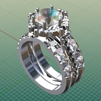 A computer-aided design model allows Abraxas customers to see the custom ring before it's fabricated.