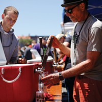 The SeaQuake taps on the plaza at last year's festival.