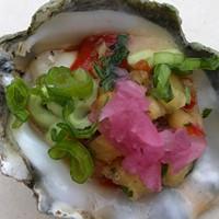 Fregoso's Comida Mexicana's winning raw oyster.