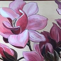 """Joyce Jonté's watercolor """"Joy and Wonder"""" at Arcata Artisans."""