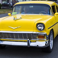 A sweet classic ride rolls down Fortuna's Main Street on Saturday, July 27.