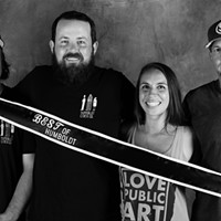 Group photo: Jamie Ashdon, Tom Hart, and Michelle and Darren Cartledge of Humboldt Cider Co.