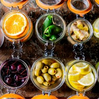 A bevy of cocktail garnishes.