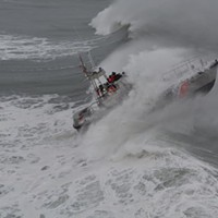 Surf Operations Training off the coast yesterday.