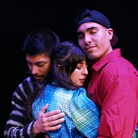 Alejandro Torres as Francisco, Wendy Carranza as Ximena Jimenez and Victor Parra as Mateo in Dreamers: Aquí y Allá.