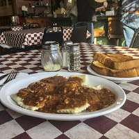 Last call for ravioli and meat sauce at Marcelli's Italian Restaurant.