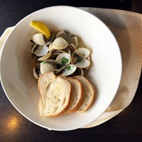 Classic steamer clams and crusty bread.