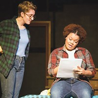 Sienna Anderson and Kiara Hudlin in Fun Home at Ferndale Repertory Theatre.
