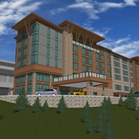 An artistic rendering of the proposed hotel project at Cher-Ae Heights Casino off Scenic Drive south of Trinidad.
