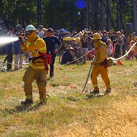 Roll on the Mattole Wildland Firefighter Challenge