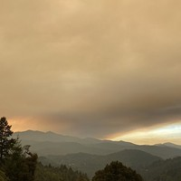 Smoke moving into the Mattole Valley late yesterday.