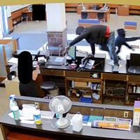 Scene of the robbery.