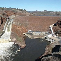 Irongate Dam on the upper Klamath River is one of four hydroelectric dams now slated to be removed in 2023.