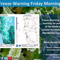 Freeze Warning Friday Morning