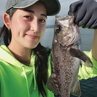 The author with her catch