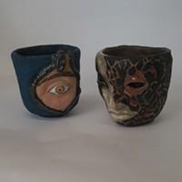 "Holly Sepulveda's ceramic ""Face Planters."""